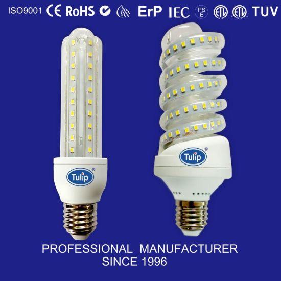 Full Spiral SMD 15W/20W/23W High Power Corn LED Bulb LED Lamp with E14 / E27 Ce RoHS Energy Saving Ceiling Light Lamp