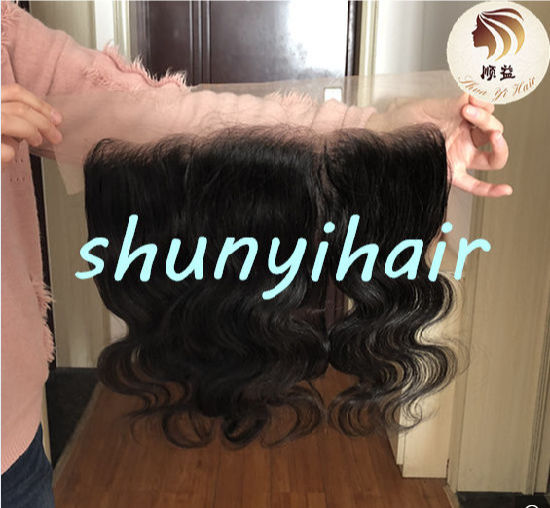 High Quality Hot Selling Swiss Lace Brazilian 100% Virgin Human Hair Body Wave Transparent Lace Frontal