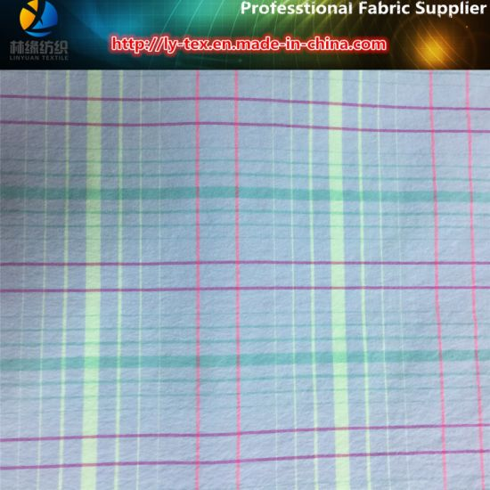 Nylon Yarn Dyed Elastic Fabric for Garment pictures & photos