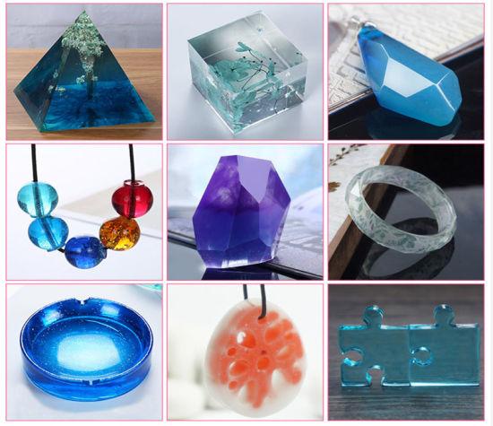 High Transparent Epoxy Platinum Crystal Resin Crystal Ab Glue for Wood Bonding, Jewelry Making, Furniture Desktop Pothole Repair