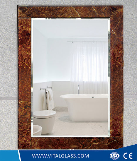 Beveled Edge Silver Frame Mirror/Tinted/Reflective Mirror with Ce pictures & photos