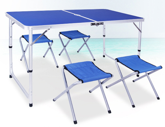 Aluminum Alloy Portable Camping Picnic Table pictures & photos