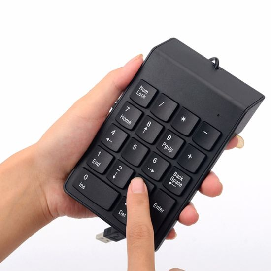 Portable Slim Mini Wired USB Number Pad Numeric Keypad Keyboard pictures & photos