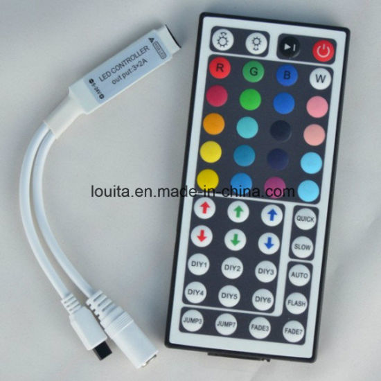 44 Key Mini IR Remote RGB LED Light Strip Controller pictures & photos