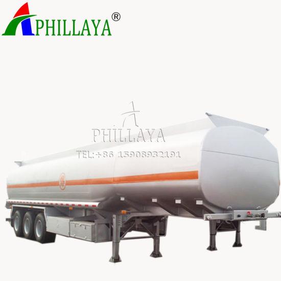 Oil Transporting 3 Axles Aluminum Fuel Tanker Semi Trailer (06)