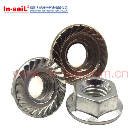 China DIN1667 Prevailing Torque All-Metal Hex Flange Lock Nuts