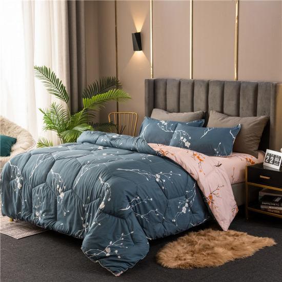 4PCS 6PCS Microfiber Fabric Covering Hollow Fiber Filling Comforter Set with Bedsheet and Pillowcase