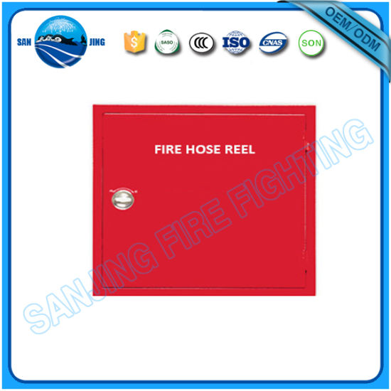 Red Metal Fire Hose Reel Cabinet
