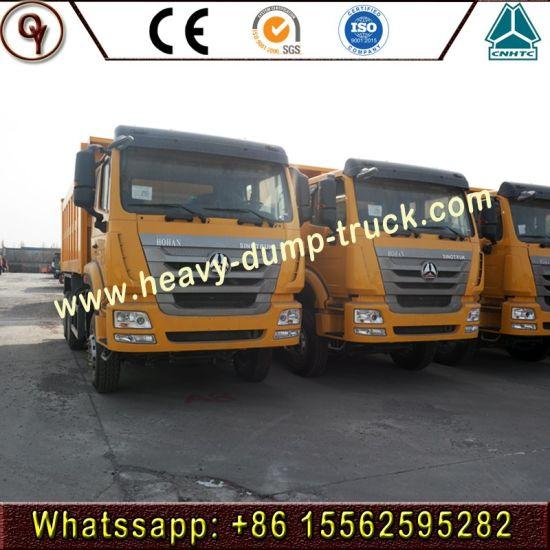 336HP 6*4/Hohan Tractor Truck 30 Cbm Sinotruk HOWO Dump 3 Axle Tipper Semitrailer