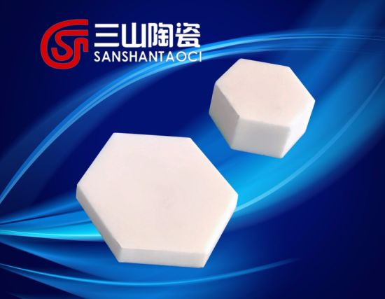 Hexagonal Alumina Ceramic Bulletproof Plate Diagonal 30*8mm pictures & photos