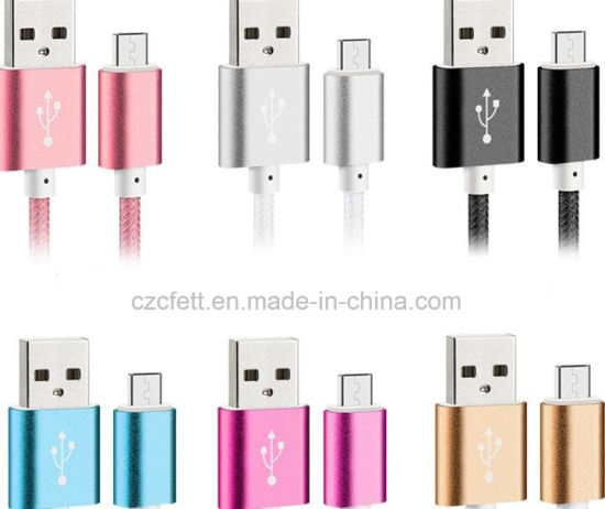 Colorful Nyon Charger&Transfer Data Android Cable pictures & photos