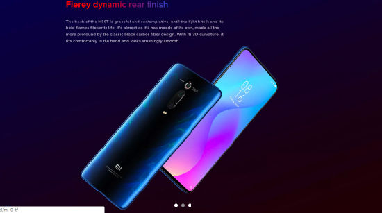 The Latest Smart Mobile Phones From China with Miui 10 Systim 6.39'' Amoled FHD+Full Screen