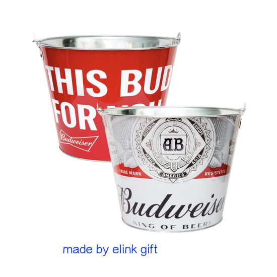 This Bud for You Metal Stainless Steel Ice Bucket with Handle and Bottle Opener