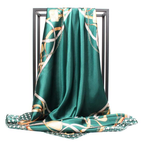 2019 Fashion Customized Designer Brand Silk Twill Scarf