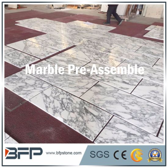 Natural Stone Arabescato White Marble--Pre-Assemble and Reliable Service pictures & photos