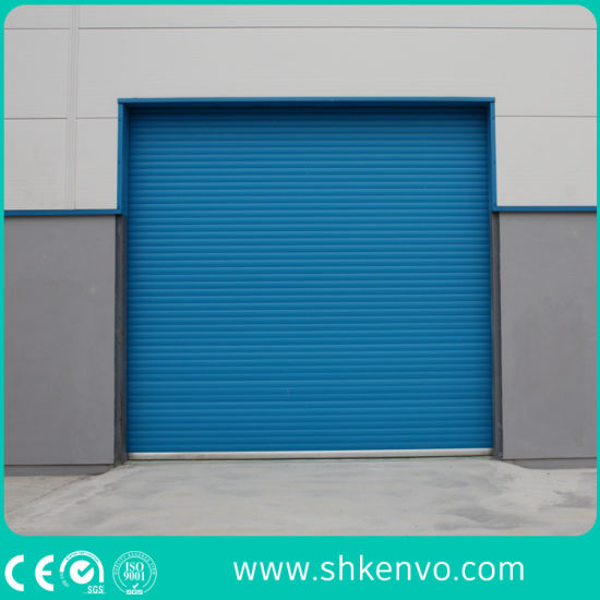 Ce Certified Thermal Insulated Galvanized Steel Automatic Motorized Roller  Shutter Door