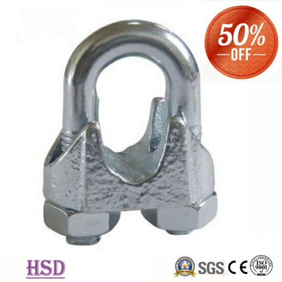 Rigging Hardware Zinc Plated Cast Iron DIN741 Cable Clamps