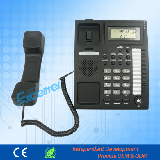 Hotel Cored Telephone pH206 with Caller ID pictures & photos