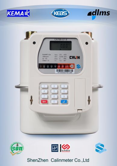 Smart Prepaid Gas Meter with Ami AMR System Vending Token