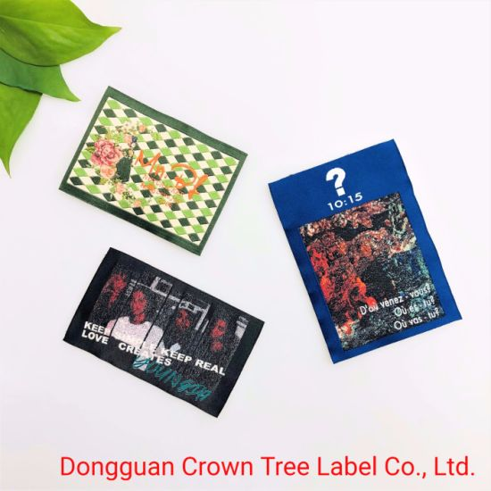 Hot Sell Woven Label with End Folded for Jeans Clothing Accessories