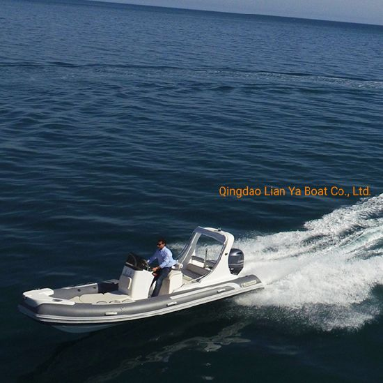 Liya 17feet Hypalon Rib Boats Fiberglass Rigid Inflatable Boat