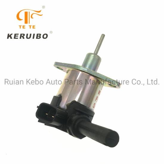 3 Month Warranty 1G772-60012 1G772-60014 Fuel Stop Solenoid 12V SINOCMP Shut Off Solenoid for Kubota V3300 Tractor M5040 M6040 M7040