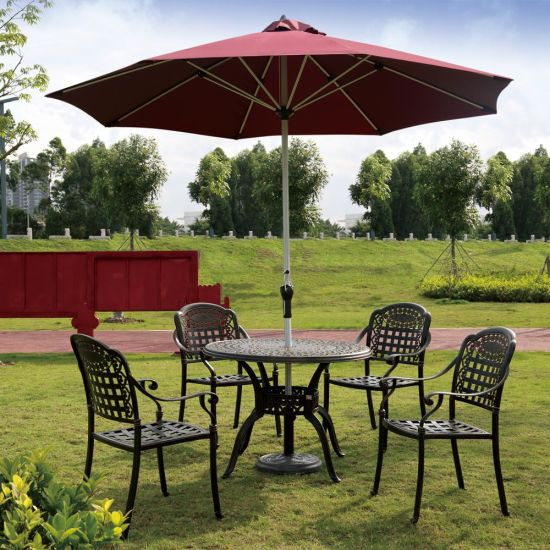 China Patio Iron Framing Champagne Paint Umbrella Garden Beach