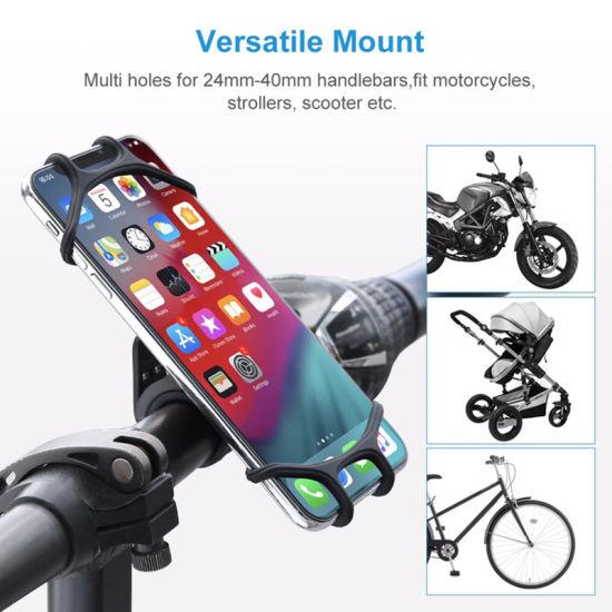Universal Flexible Silicone Handlebar Mount Bike Bicycle Cell Phone Holder