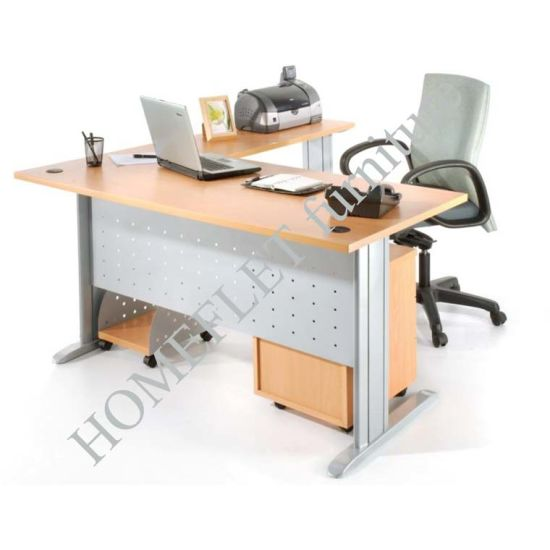 Modern 4 Seaters Office Furniture Writing Desk (Knockdown System)