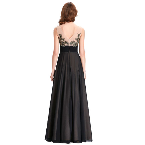 Black Basic Style Chiffon Dress pictures & photos