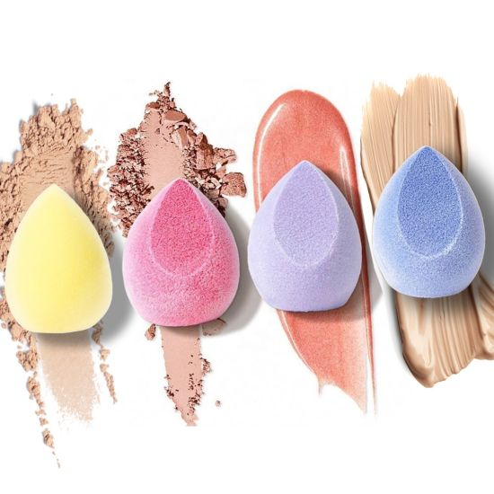 Hot Selling 2021 Private Label Foundation Latex Free Water Blending Beauty Velvet/Velour Microfibre Makeup Sponge