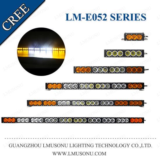 60W 120W 180W 240W 300W Straight Amber LED Bar Light for Car