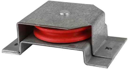 "Horizontal Nylon Red Pulley 3.5"" (#131255)"