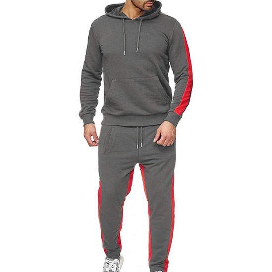 Cheap Wholesale Cotton Polyester Gym Workout Sport Pants Men Hoodie Tracksuit