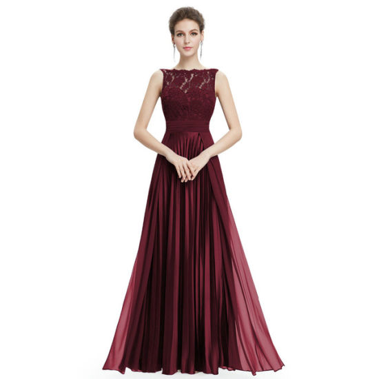 China Evening Dresses Gorgeous Formal Lace Long Sexy Red Women Party