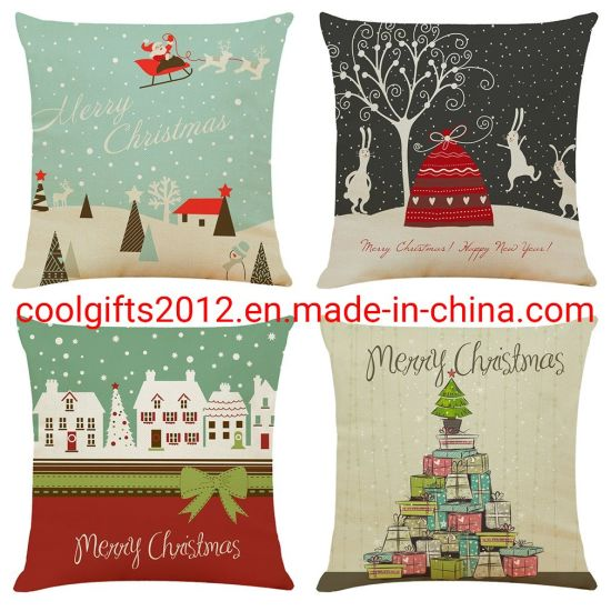 Christmas Decorations Pillow Covers Plaid Decor Throw Pillow Cases Cushion Cover 18 X 18 Inch Home Decorative