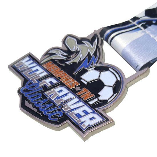 Custom Made 3D Soccer Chocolate Football Medal