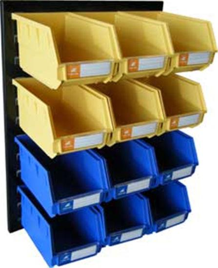 China Warehouse Wall Mounted Plastic Storage Tool Parts Bin Box for