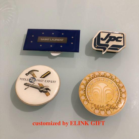 PVC Epoxy LED Badge Maker Promotional LED Light up Flashing Name Badge