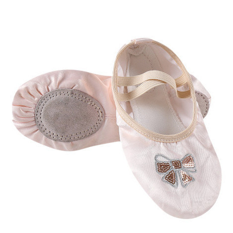 Foldable High Stretch Ballet Women Decorated Embroidery Dance Shoes