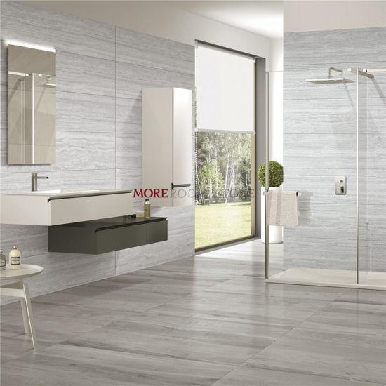 China Anti Slip Gray Timber Wood Look, Grey Wood Tile Bathroom
