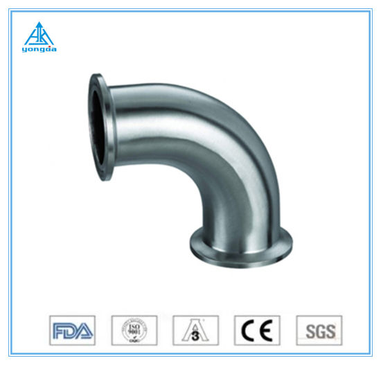 304/316L Stainless Steel Hygienic Sanitary Tube Pipe Fitting 45 Degree 2 Inch Male Welding Elbow