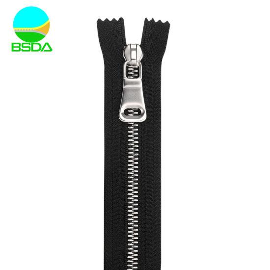 Used for Leathers Metal Waterproof Zipper New Design Stainless Steel Zipper