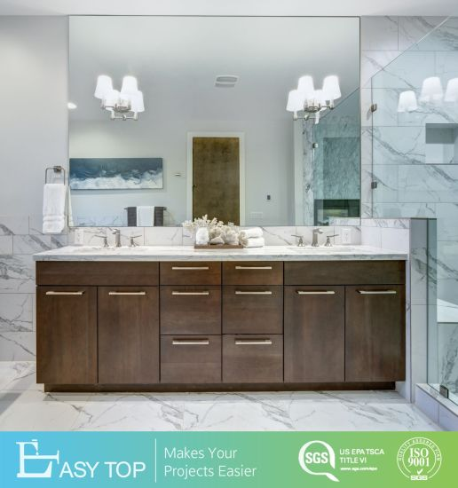 American Flat Pack Washbasin Ready Made Double Sink Bathroom Mirror Cabinet