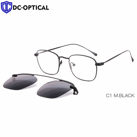Magnetic Stainless Steel Mirror Color Polarized Lenses Custom Made Metal Clip on Sunglasses