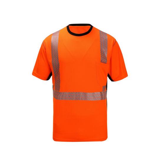 High Quality Traffic Reflective Shirts Traffic Hi Viz Shirt Safety Uniform Work Wear