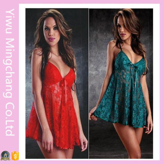 Sexy Lingerie for Women Sleepwear Lace Dress Babydoll Nightwear