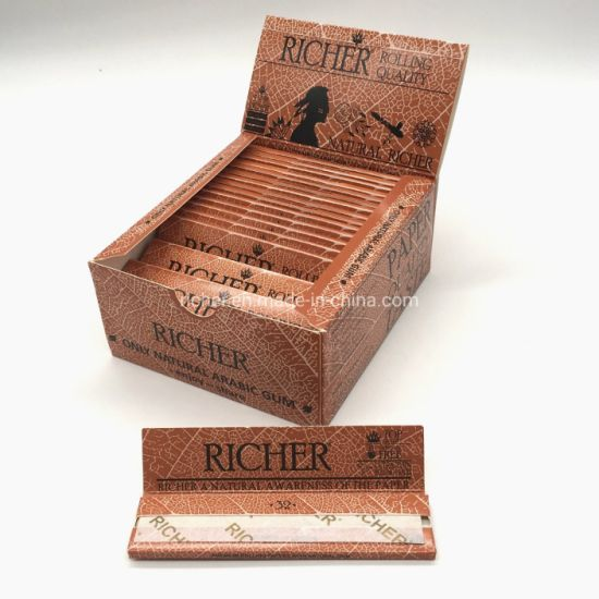 Richer Custom Single 1 1/4 Kingslim Cigarette Smoking Rolling Papers