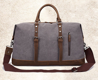 Dark Khaki Large-Capacity Hand Slanted Canvas Bags Wholesale Luggage Bag Travel Single Shoulder Pack