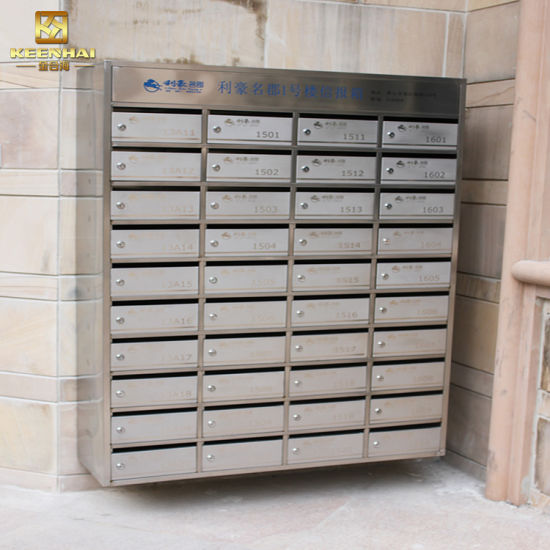 Custom Made Commercial Stainless Steel Office Newspaper Locking Mailbox pictures & photos